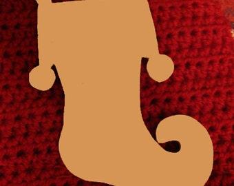 Christmas Stockings Unfinished MdfWood Craft Shapes/Mosaic Base Large 1/2 Inch
