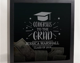 Engraved Graduation Shadow Box, Personalized Graduation Shadow Box, Personalized Graduation Keepsake