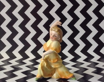 c.1950's~Dancing Flower Girl~Yellow Flower~Figurine