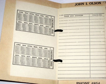 Vintage (1932) Tel-O-Index - Address and Phone Book - Manchester, CT Advertising