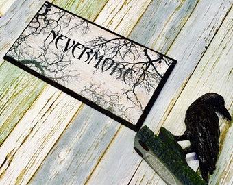"""Edgar Allan Poe ~ """"Nevermore"""" ~ wall plaque"""