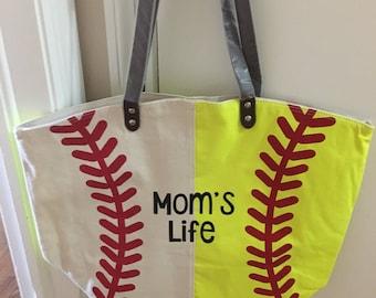 Team sports gym bags etsy baseball softball tote publicscrutiny Choice Image