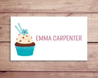 Cupcake Calling Cards - Cupcake Gift Tags - Party Tags - Favor Tags - Custom Calling Cards - Personalized Gift Tags