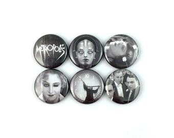 """Metropolis (1927) - 1"""" Button Pin Set"""