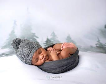 Baby Pom Pom Hat, Baby Boy Hat, Knit Baby Hat with Pom, Baby Pom Pom Beanie, Baby Pom Hat, Baby Pom Beanie, Baby Winter Hat Boy Hat Baby Boy