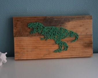 string art funny dinosaur