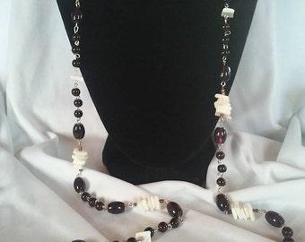 Puka Shell Lariat Necklace