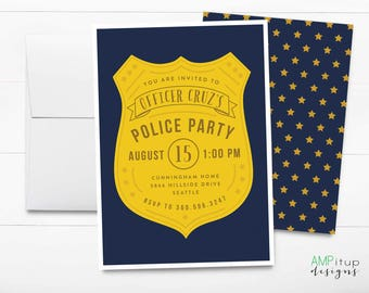 Police Party Fingerprint Cards Printable Template INSTANT - Party invitation template: free police party invitation templates