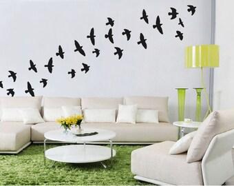 Flock Of Flying Birds Wall Stickers Bird Wall Decal