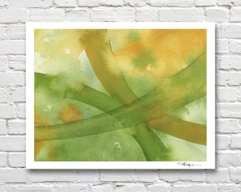 "Abstract Watercolor Painting - ""Intersection""  - Contemporary Wall Decor"