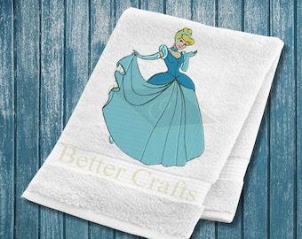 Applique Princess Cinderella, Machine Embroidery Applique Design, Embroidery Cinderella Princess design, Cinderella Embroidery Design