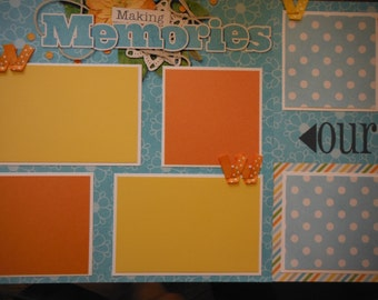 Making Memories Our Family  Premade  12x12 Scrapbook Pages for your FAMILY  Boy GIRL