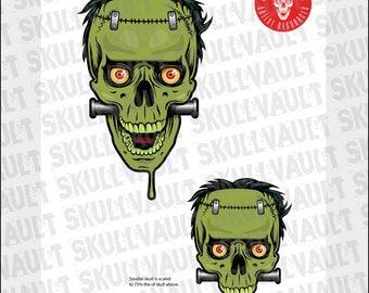 Comic Book Skull Vector Illustration - Frankenstein's Monster
