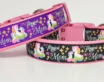 Unicorn Dog Collar, Magic, Mom, Magical , Princess, Puppy, Handmade, Designer Dog, Mother's Day Gift, Dog Gift, Pet,
