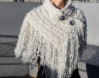 Wool poncho, cape style. Wool coverups