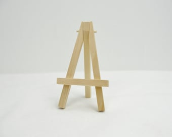 Miniature wood easel