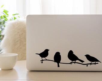 Birds on a branch, Laptop Decal, Laptop Stickers, MacBook Decal, Laptop Sticker, Mac Decal, Bird Decals, Bird Stickers