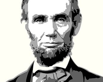 Abe Lincoln Digital Print