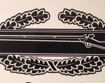 """Combat infantry badge vinyl 7"""""""