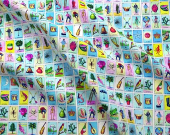 Loteria Fabric - Loteria Small By Jellymania - Loteria Cotton Fabric By The Yard With Spoonflower