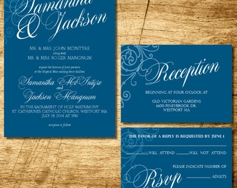 Calligraphy Wedding Invitation printable