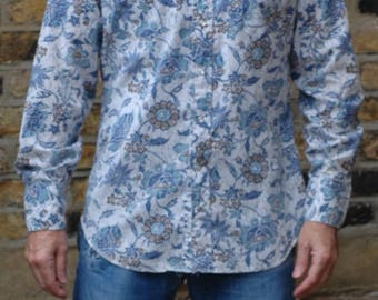 True vintage 1970's fitted floral western shirt,