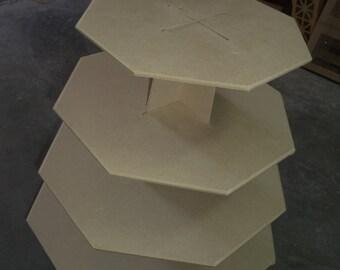 4 tier XL economy cupcake stand