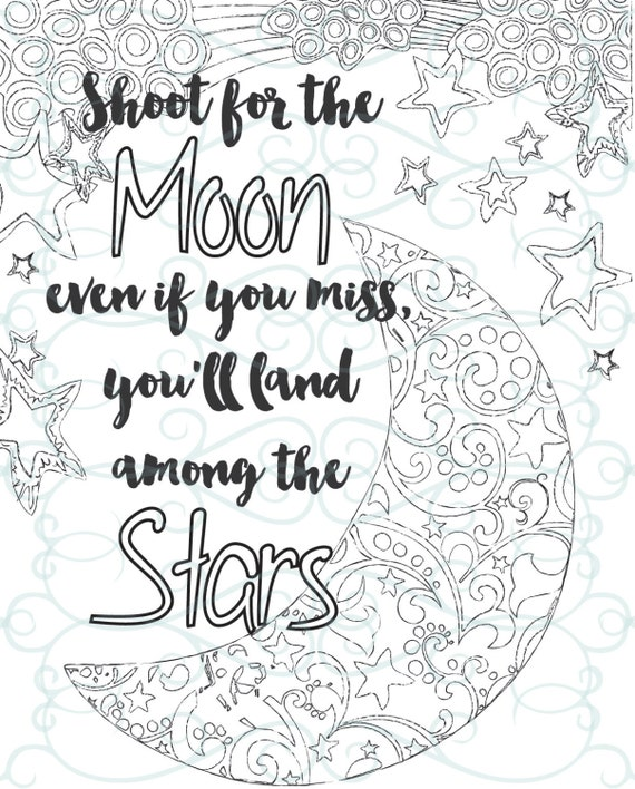 Adult Inspirational Coloring Page Printable 04 Shoot For The