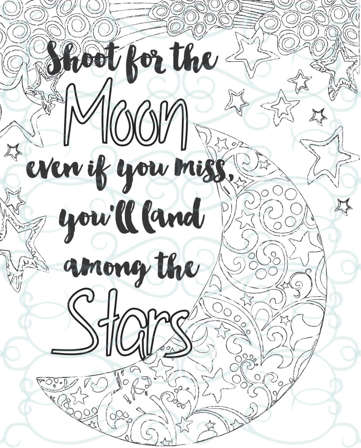 Adult Inspirational Coloring Page printable 04-Shoot for