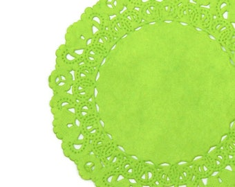 """LIME GREEN Paper Lace Doilies   4"""" 5"""" 6"""" 8"""" 10"""" 12"""", 14"""", 16"""" Sizes   Light Green Colored, Lime Green Doily, Green Dailies, Green Lace Doily"""