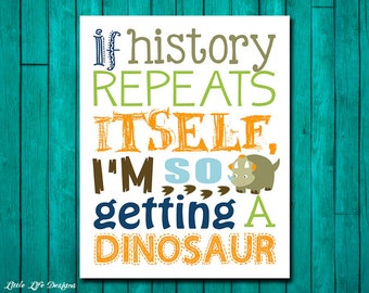 I'm getting a dinosaur. Dinosaur Wall Art. Dinosaur Decor. Children's Wall Art. Little Boys Wall Art. Dinosaur Art. Little Boys Dino Room