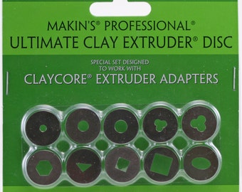 "Set ""C"" Makin's  extruder disc adapters, 10 piece"