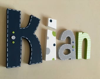 Nursery wood wall letters decor, Nursery letters, Boy Nursery wall hanging letters, nursery decor, nursery wall letters, nursery wood sign