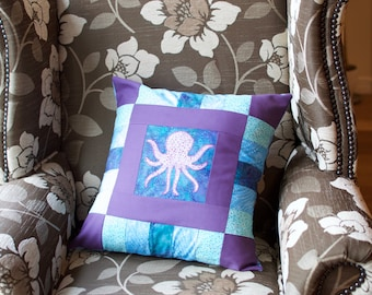 "Handmade ""Under the Sea"" Octopus Cushion"
