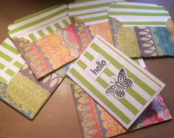 Miniature butterfly notecards - set of 5 with envelopes