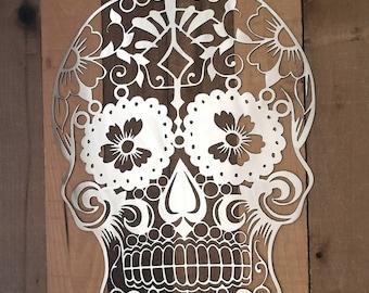 Metal Sugar Skull Wall Art Day of the Dead Wall Decor Mexican Sugar Skull Wall Decor Decorative Sugar Skull Decor Skull Tattoo Art Steampunk