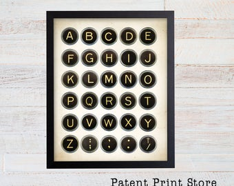 Vintage Typewriter Keys Print. Typewriter Art. Typewriter Print. Typewriter Key Art. Writer Gift. Office Decor. Office Wall Art. Office. 47