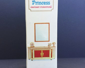 Vintage Dollhouse Furniture -NOS- Royal Buffet with Accessories - Petite Princess by Ideal