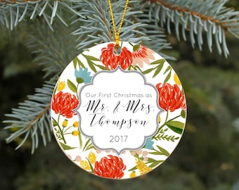 Our First Christmas as Mr and Mrs Ornament First Christmas
