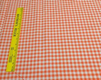 Checkmate-Orange Cotton Fabric