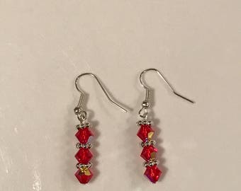 Valentine's day flower earrings