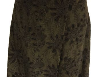 Nicole Farhi Brown A-Line Wrap Skirt UK 14