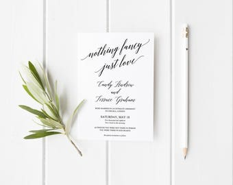 Just Married Wedding Announcement Marriage Announcement - Wedding announcement template