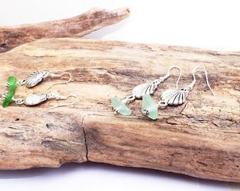 Sea Glass Earrings, Pierced Earrings, Sea Glass Etsy, Sea Glass Jewelry, Beach Earrings, Sea Glass, Seaglass
