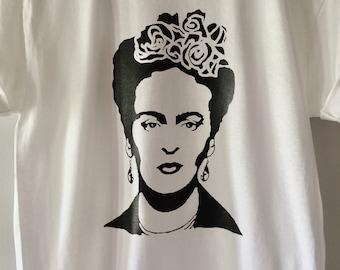 Frida Kahlo Shirt. Frida Shirt. Frida Kahlo. Frida Kahlo clothing. Frida Shirt. Frida Flower. Frida Kahlo Shirt. Art Gift. Pop Art. Portrait
