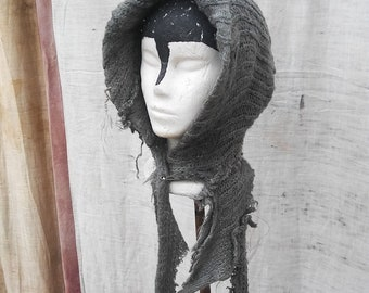 tattered blue faery hood
