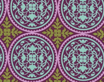 SALE Scrollwork  in Lilac by Joel Dewberry AVIARY 2  Cotton Quilt Fabric 1 yard