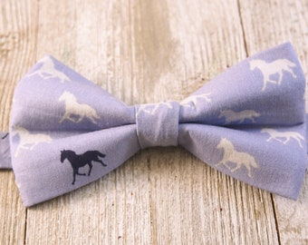 Navy on Blue Horses Derby Bow Tie, Pre-tied Bow Tie, Derby Horses, Derby Style, Bowties, Rodeo, Mens Bow Tie, Horse Racing, Pink Horses