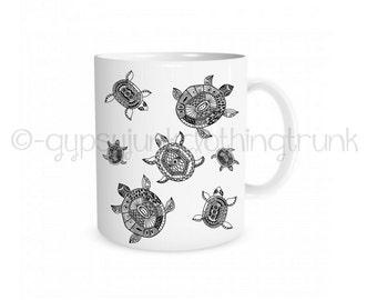 Sea Turtle Cup - Turtle Mug - Beach Mug - Beach Cup - Coffee Mug - Coffee Cup - Turtle Drinkware - Zen Coffee Mug - Zen Coffee Cup