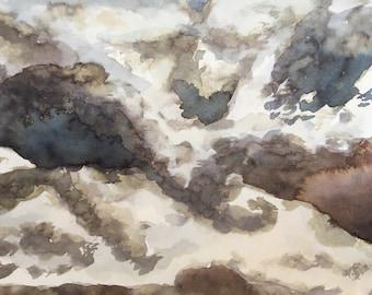 Clouds ink print